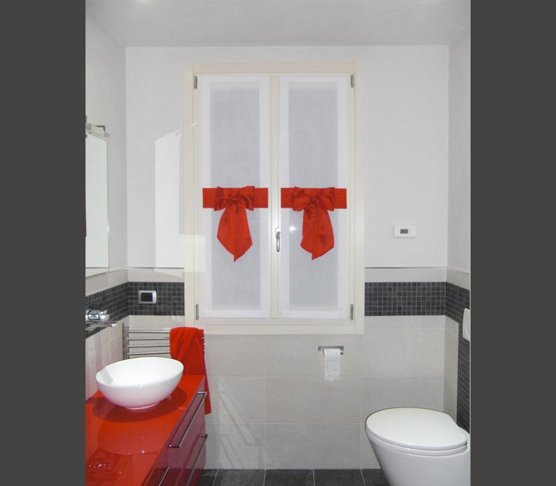 tenda vetro decorata per bagno